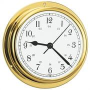 "Barigo Viking Series Quartz Ship's Clock - Brass Housing - 5"" Dial 611MSAR"