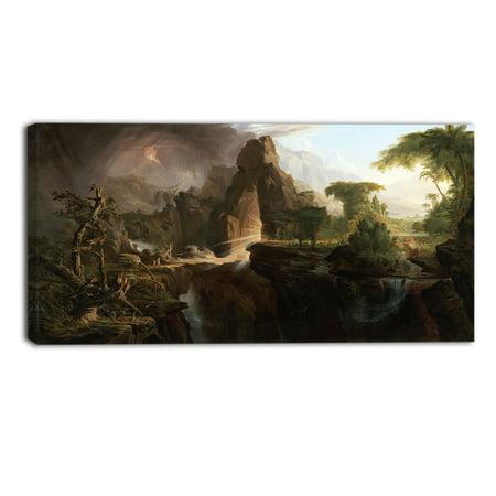 - DESIGN ART  'Thomas Cole - Expulsion from the Garden of Eden' Canvas Art Print - Multi-color
