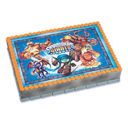 The Skylanders Giants edible Frosting Image Cake - Skylanders Birthday