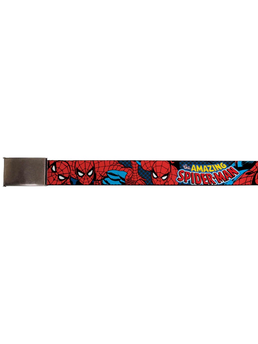 Buckle-Down Seatbelt Belt Marvel SPIDER-MAN NOIR Scenes White//Black//Red 20-36 Inches in Length 1.0 Wide