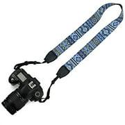 Elvam Camera Neck Shoulder Belt Strap Compatible w Nikon,Canon,Sony,Olympus,Kodak,Pentax ETC DSLR/SLR, Pattern Striped