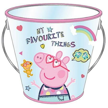 Party Favor Pails - Peppa Pig - Collectible Plastic Pail - Favorite