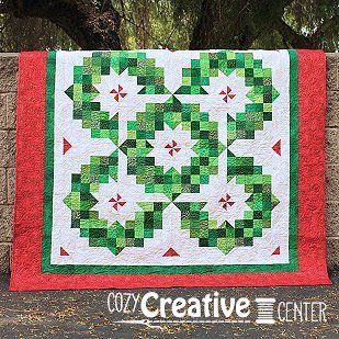 Pattern, Ring of Wreaths by Cozy Quilt Designs, 2 1/2'' Strips