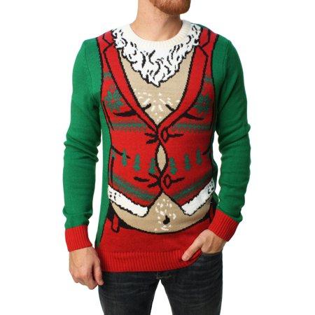 ugly christmas sweater ugly christmas sweater mens sexy santa pullover sweater walmartcom - Christmas Sweaters Walmart