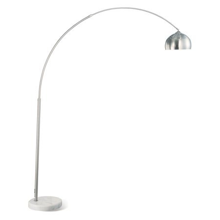 Coaster Company Contemporary Arched Lamp, Chrome Finish