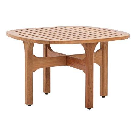 Modern Contemporary Urban Design Outdoor Patio Balcony Garden Furniture Lounge Coffee Table, Wood, Natural ()