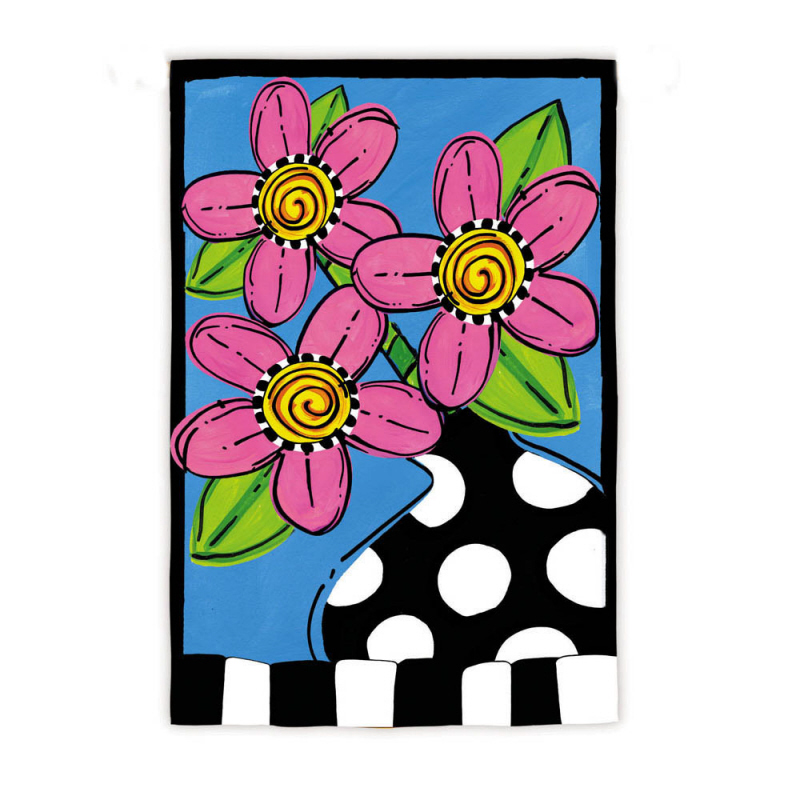 Garden Size Silk Reflections Flag, Whimsy Fleur, 12.5x18 Inches