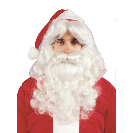 Professional Santa Beard & Wig Set - Professional Costume Rental