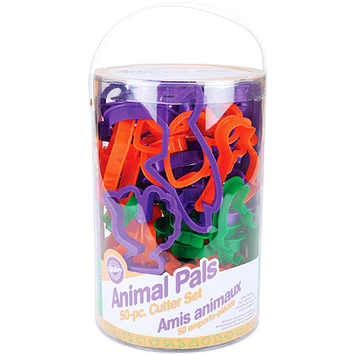 Wilton Plastic Cookie Cutters, Animal Pals 50 ct. 2304-1055