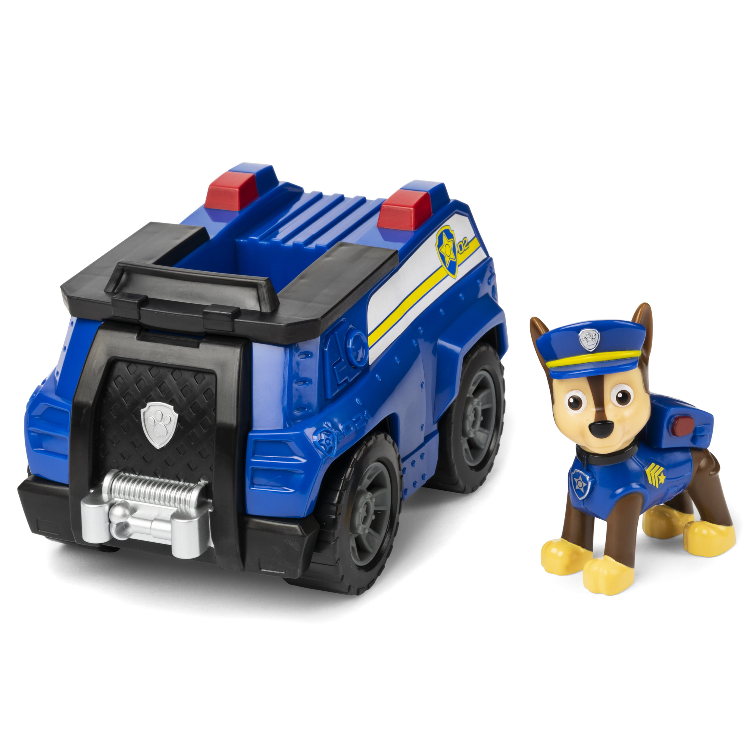 PAW Patrol, Chase's Patrol Cruiser Vehicle with Collectible Figure, for Kids Aged 3 and Up