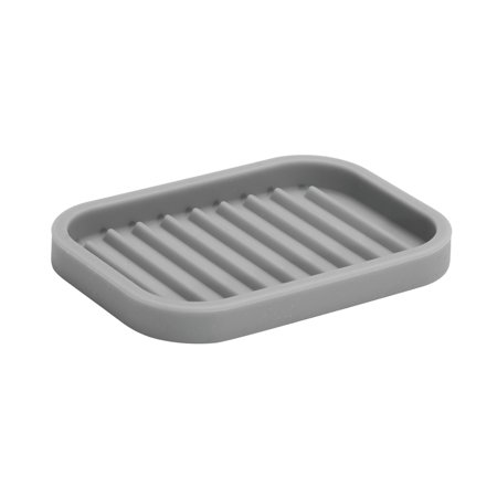 InterDesign Lineo Soap Dish, Gray