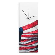 Metal Art Studio 'US Flag' Patriotic Home D cor Wall Clock