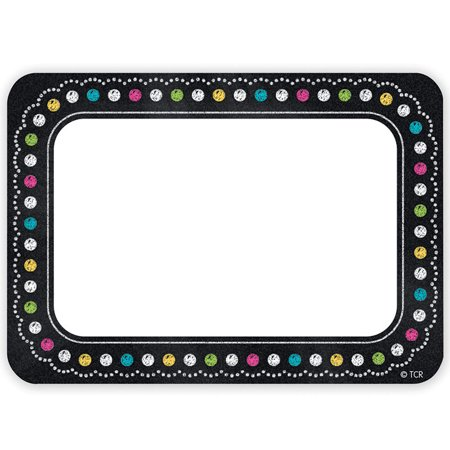 Chalkboard Brights Name Tags