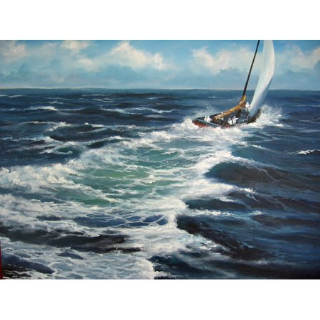 Framed Art for Your Wall Enrico Maschino - Knot 4 Sail 10x13 Frame