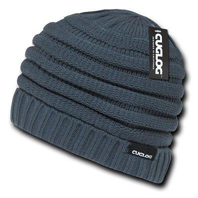 a6fbc89e19b Gray Knit Warm Reggae Winter Ski Skull Cuff Sweater Beanie Beanies Cap Hat  Hats