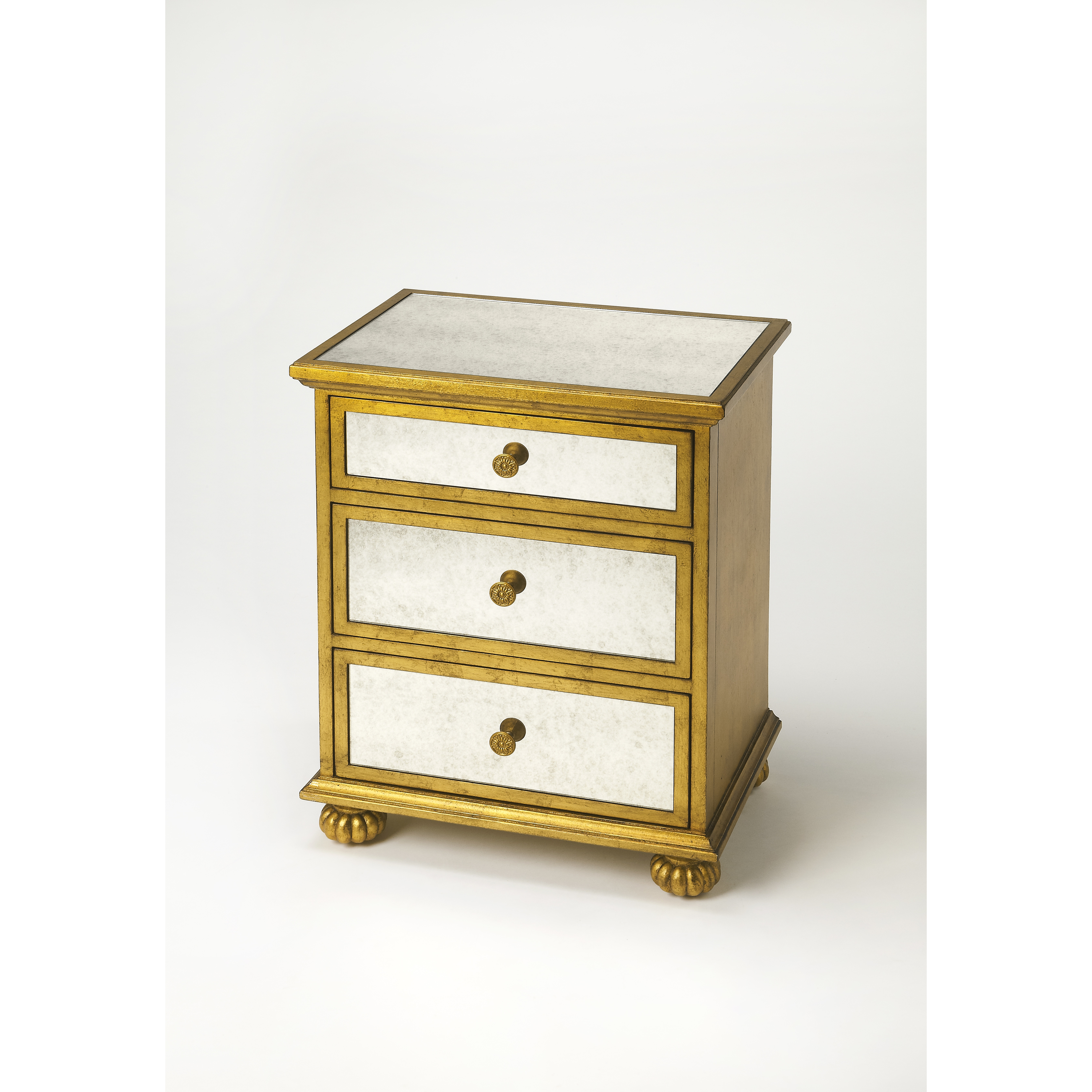 Butler Grable Gold Leaf Accent Chest