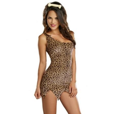 Woodland Animal Costumes (Dreamgirl Womens  Tan Animal Cave Woman Dress)