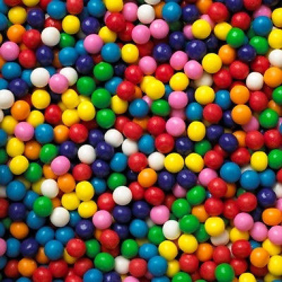 Gold Gumball Machine (800 ASSORTED MINI MINIATURE SMALL GUMBALLS VENDING MACHINE BULK GUM BALLS)