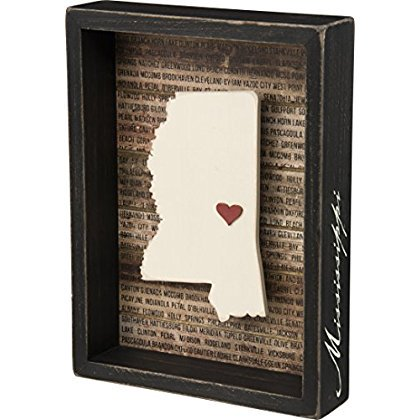 Mississippi State Shape Box Sign Primitives by Kathy ()