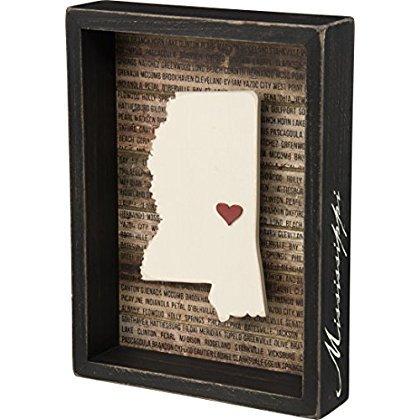 Mississippi State Shape Box Sign Primitives by