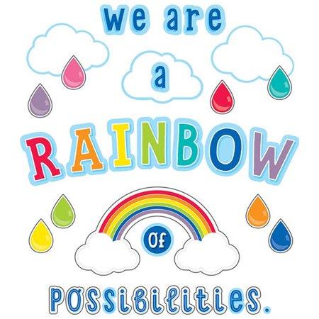 Rainbow Bulletin Board (Carson Dellosa CD-110416 We Are A Rainbow of Possibilities Bulletin Board)