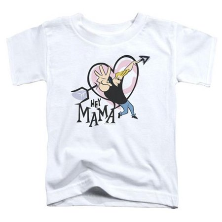 894029d55e6484 Trevco - Trevco Johnny Bravo-Hey Mama - Short Sleeve Toddler Tee - White    Medium 3T - Walmart.com