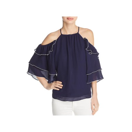 e0f4c23d556d7d Parker - Parker Womens Cindy Cold Shoulder Ruffled Sleeves Blouse -  Walmart.com