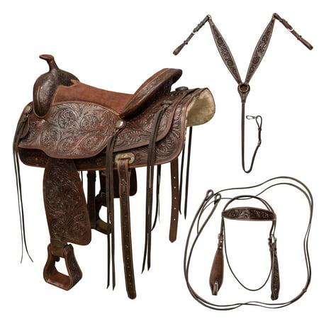 Docksides Saddle - Buffalo Outdoors 16 inch Western Saddle