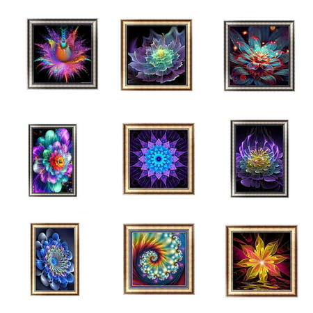 Clearance!Colorful Diamond Painting Rhinestone Embroidery Needlework DIY Stitchwork Drawings Cross-stitch Pictures Office