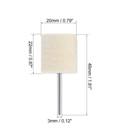 20mm Wool Felt Mounted Points Cylinder Polishing Buffing Wheels 2 Sets - image 2 of 4