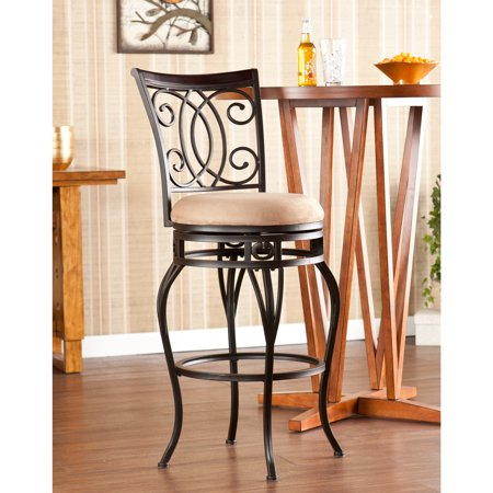 Southern Enterprises Margio Swivel Bar Stool, Dark champagne