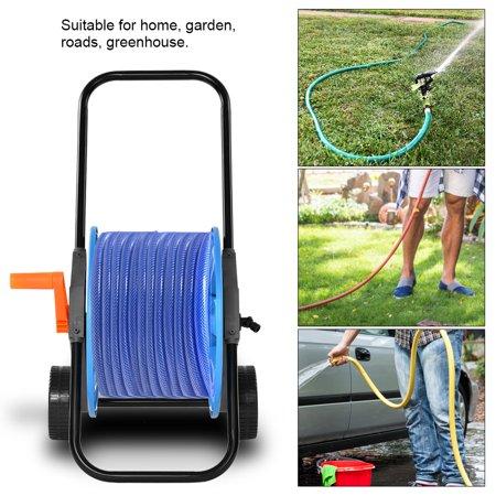 Garden Watering Trolley,HURRISE Portable Garden Water Hose Pipe Reel Holder Trolley Cart for Watering Garden Truck