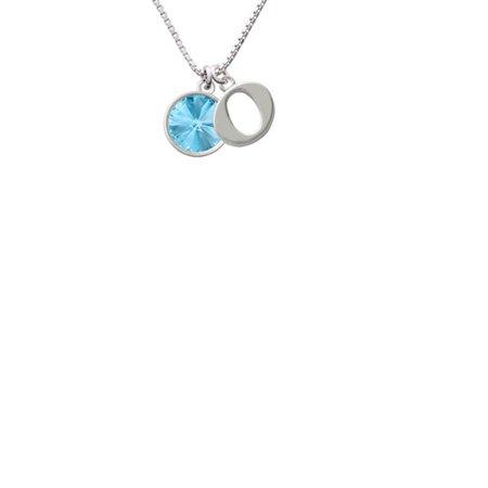 12Mm Crystal Rivoli   Hot Blue Capital Initial O Necklace