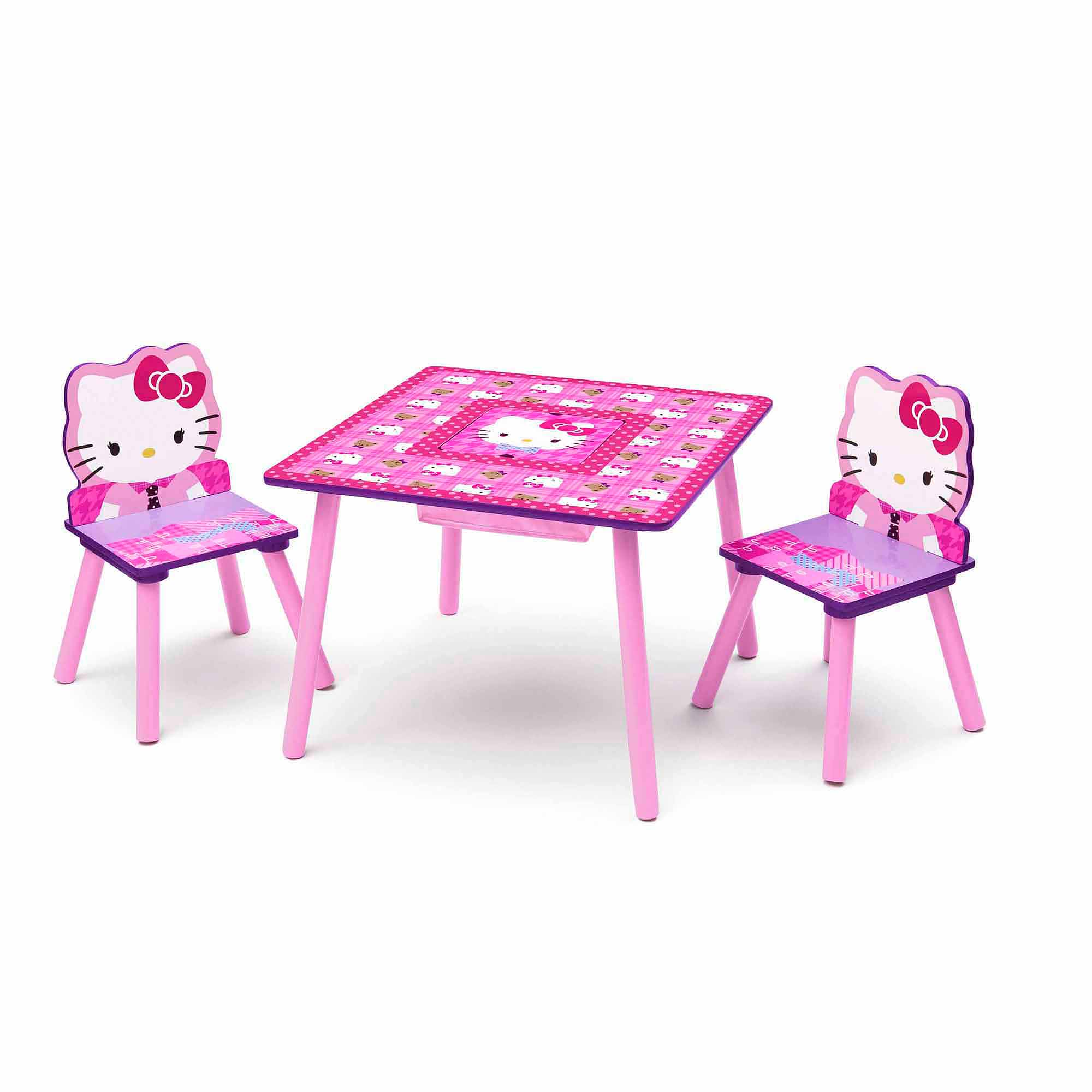 Hello Kitty Table and Chair Set with Storage Walmart