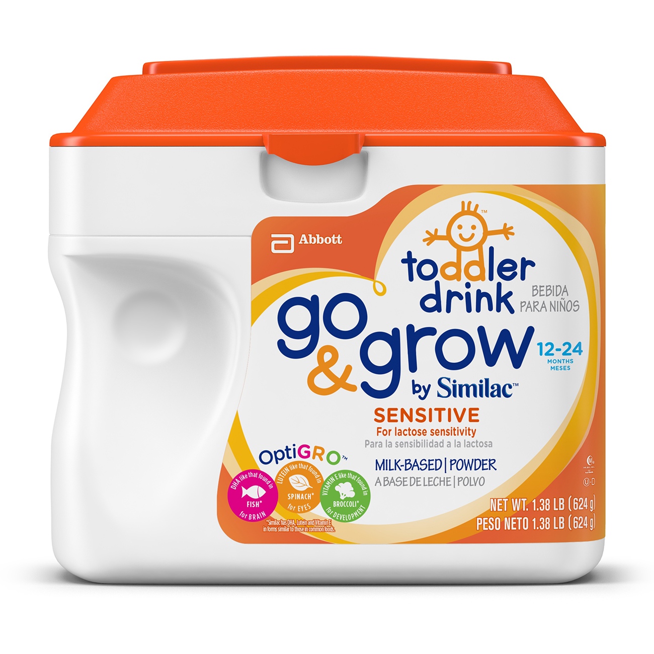 Go & Grow by Similac Sensitive Milk-Based Toddler Drink ...