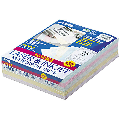 Pacon Array Colored Bond Paper, 8-1/2 x 11, Assorted Marble Pastels, 500 Shts/Rm
