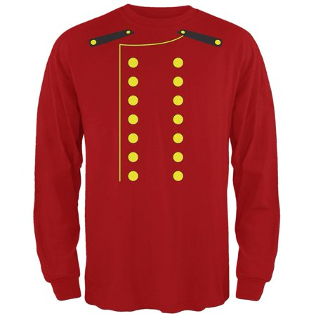 Halloween Hotel Bellhop Costume Red Adult Long Sleeve T-Shirt (The W Hotel Boston Halloween)