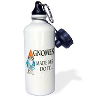 3dRose Gnomes made me do it, Sports Water Bottle, 21oz