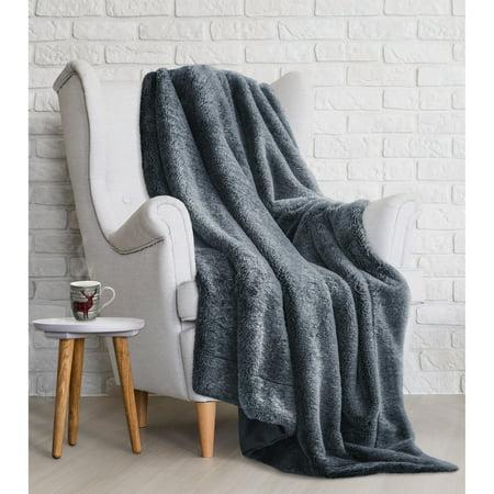 Safdie & Co. Throw Blanket Wildlife Faux Fur 50