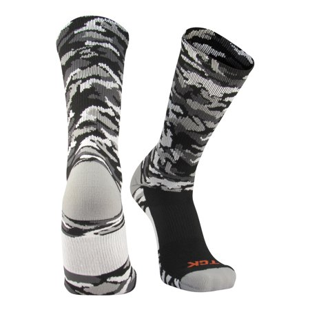 TCK Woodland Camo Elite Basketball Football Lacrosse proDRI Crew Socks (Nike Youth Elite Basketball Socks)