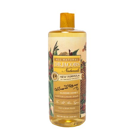 Dr. Jacobs Naturals Face & Body Wash, Almond Honey, 32 Ounce Almond Shower Gel
