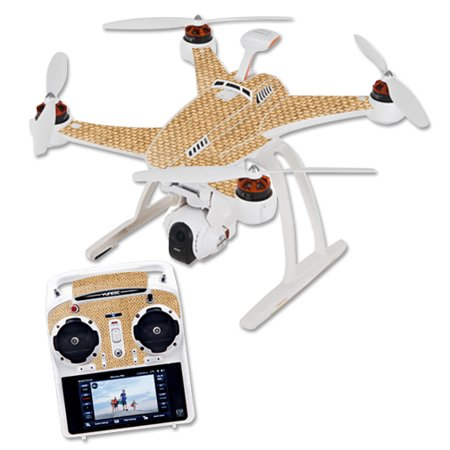 Skin Decal Wrap for Blade Chroma Quadcopter Drone Wood Weave