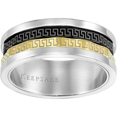 Keepsake Mens Devine Stainless Steel Band