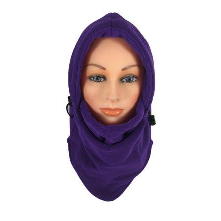 9be835f2416 Women s Fleece Balaclava Hooded Face Mask Neck Warmer Ski Hood Snowboard  Mask Wind Protector (Purple)   - Walmart.com