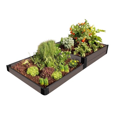 Tool-Free Weathered Wood Raised Garden Bed Terraced 4