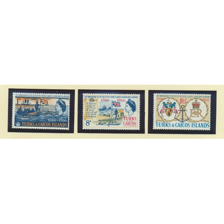 Turks and Caicos islands Scott #152 To 154 - Establishment of Ties With Great Britain Issue From 1966 - Collectible Postage Stamps