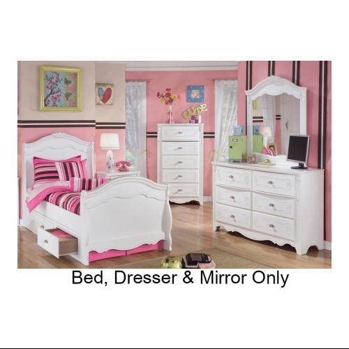 Signature Design by Ashley  B188212662N63N82N Exquisite Collection 3 Piece Bedroom Set with Twin Size Sleigh Bed +