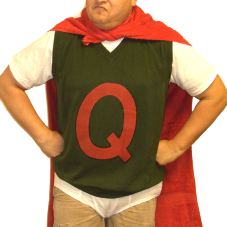 Quailman Sweater Vest Doug TV Show Funnie Q Adult Quail Man Costume Super Hero