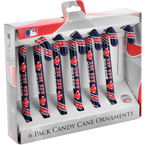 Candy Cane Ornament Set, Boston Red Sox