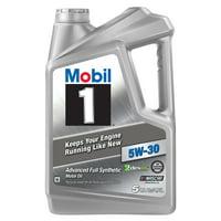 Mobil 1 Advanced Full Synthetic Motor Oil 5W-30, 5 Quart